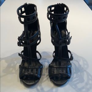 HeartSoul Black Polyurethane Heels